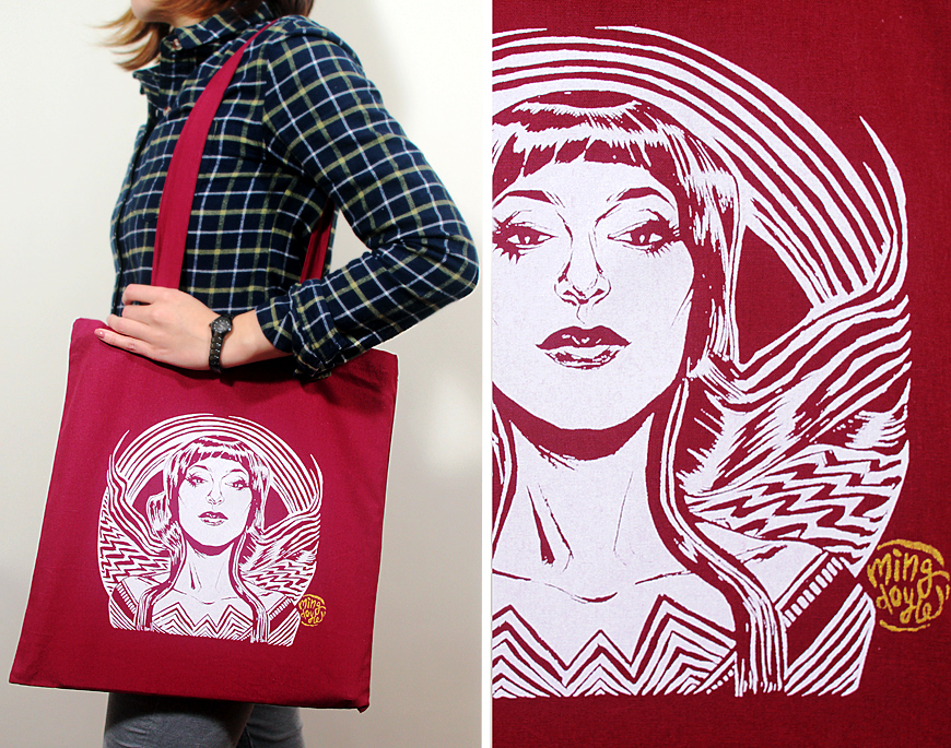 Wonder Motif Tote Bag by mysteryming