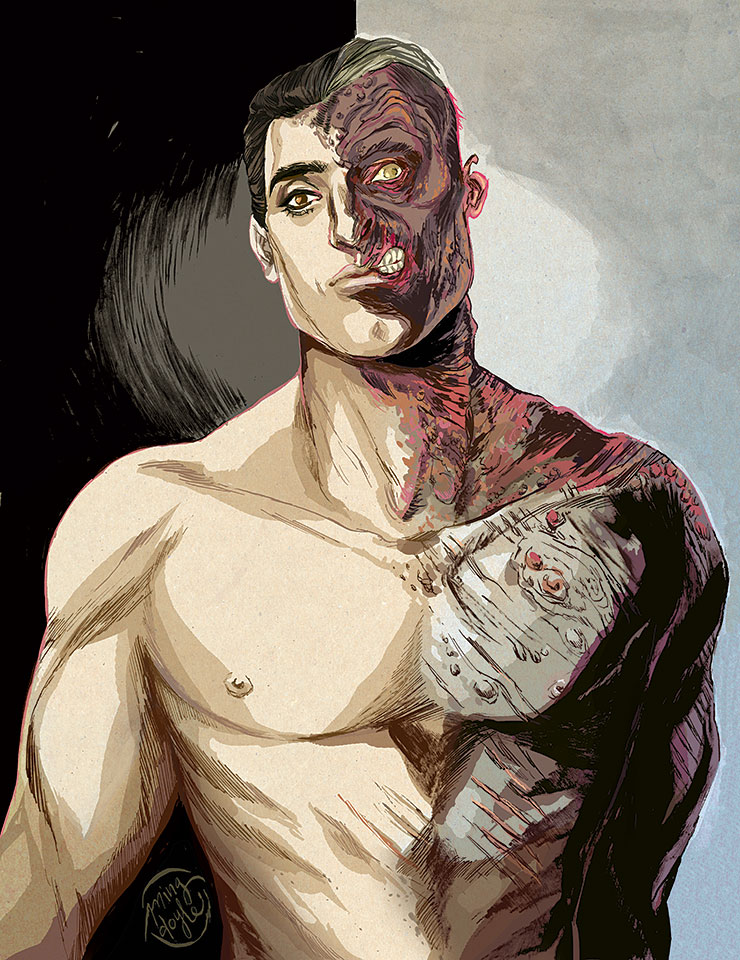 Two Face Harvey Dent: Two-Face, My Love. By Mysteryming On DeviantArt