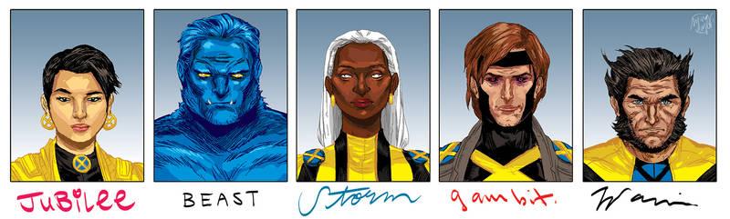 5 Favorite X-Men by mysteryming