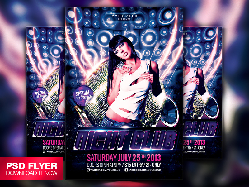 Electro House Music Flyer Template Psd By Art Miranax On Deviantart