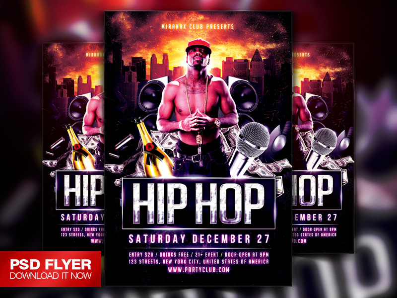 Underground Hip Hop Rap Flyer Template Psd By Art Miranax On