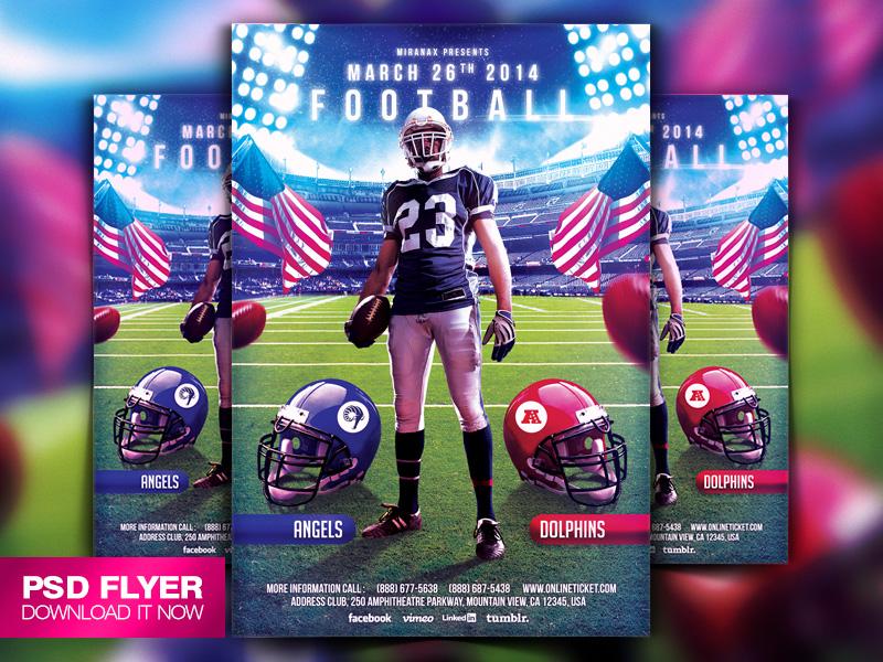 College Football Flyer Template PSD by Art-MiraNAX on DeviantArt