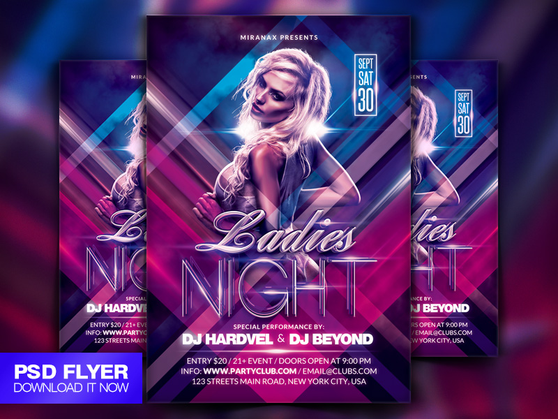 ladies night poster psd - photo #33