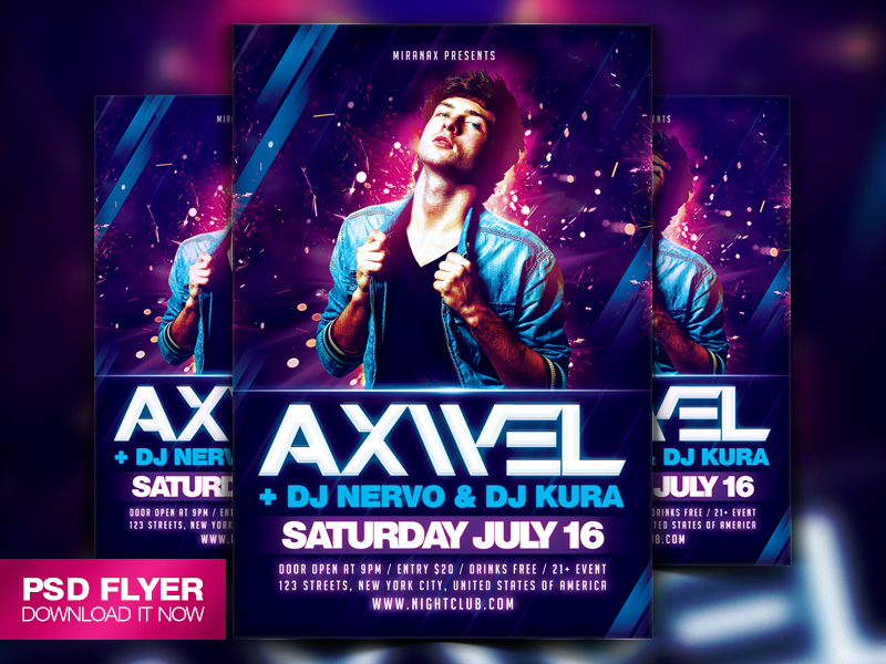 Special Guest Dj Flyer Template Psd By Art Miranax On