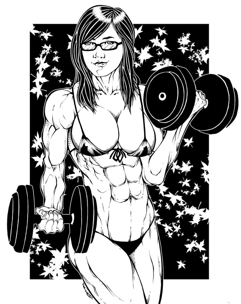 Muscle Girl by el-diablero