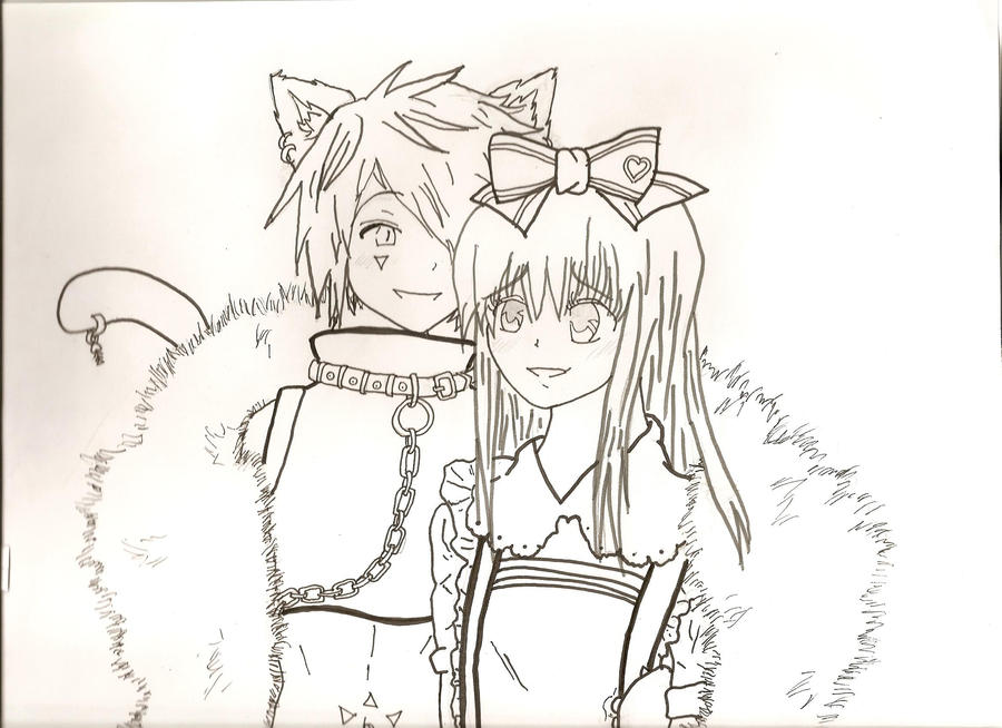 borisxalice lineartcoloring page by midnightlily453 - Friends Anime Coloring Pages