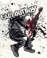 Fall Out Boy Scratchboard by 1000butts