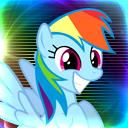 Rainbow Dash Icon 128x128 by Ronthereddragon