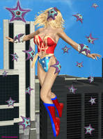 Ultra Woman versus Starro by ladytania