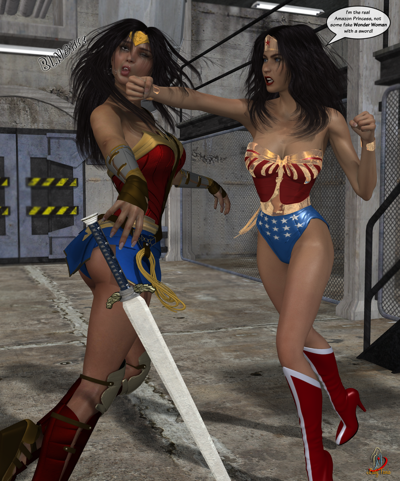 Wonder Woman vs. Wonder Woman 1 by ladytania
