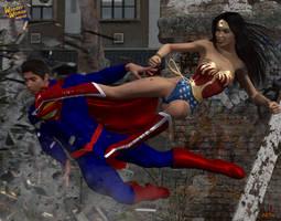 Wonder Woman versus Superman by ladytania