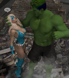 Lady Liberty and the Green Giant 11 by ladytania