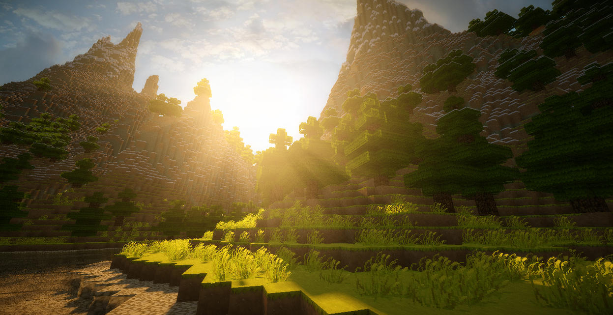 Download Wallpaper Minecraft Scenery - minecraft___eldaria_sunrise_by_cinematic3xile-d6it2pw  Best Photo Reference_174313.jpg