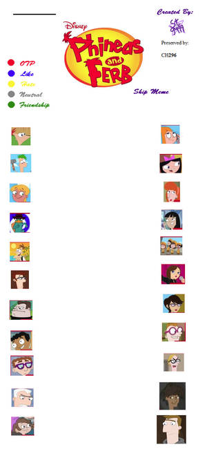 Phineas and Ferb Shipping Meme (Preservation)