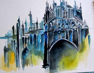 Gothic castle by dingbat23