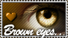 Brown Eyes stamp by Emerald-Depths