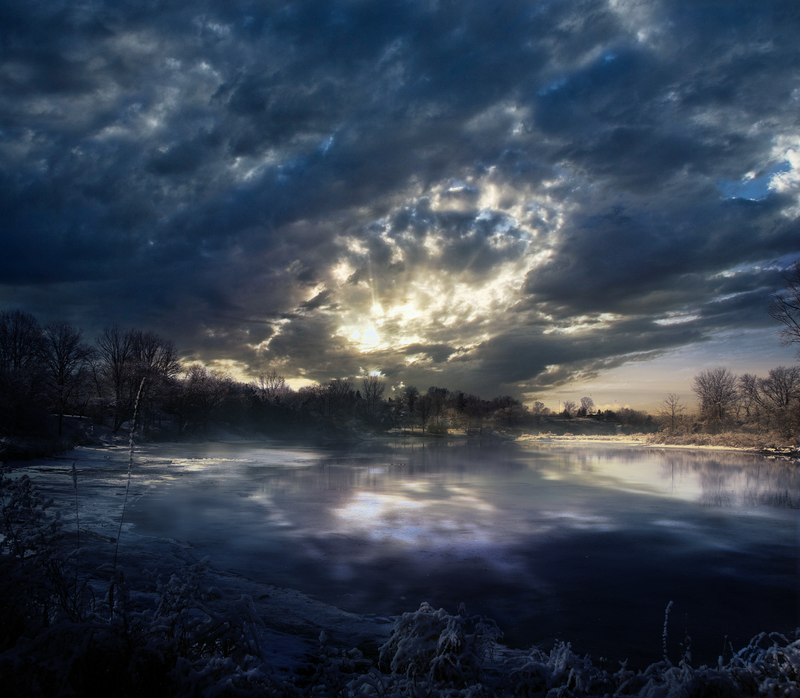 Winter Morning - Premade BG by Emerald-Depths