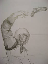 Dude with Pistol -in process- by SomaCruzFirm