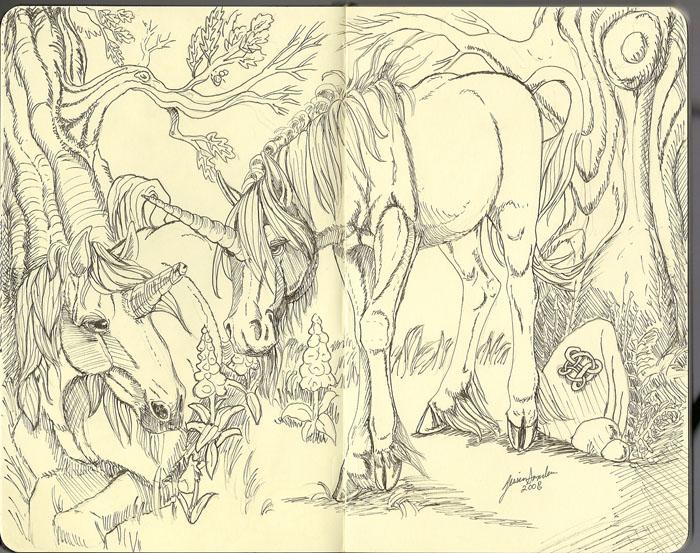 Moleskin Unicorns by sighthoundlady