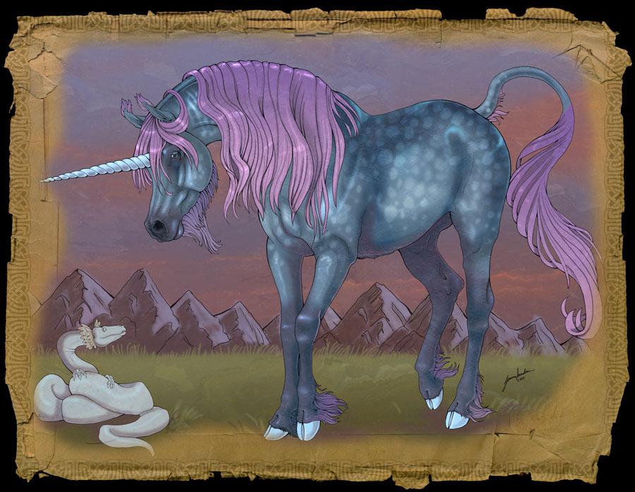 The Unicorn and the Wyvern by sighthoundlady