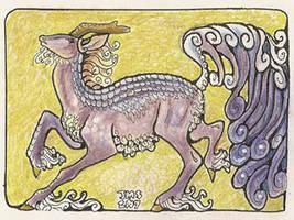 Kirin art card by sighthoundlady