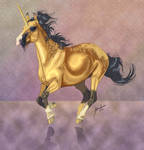 Galloping Dun Unicorn Version