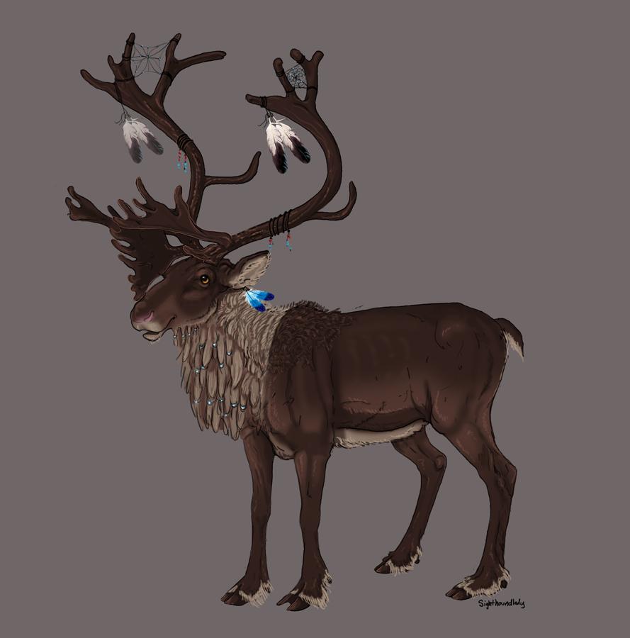 Caribou by sighthoundlady