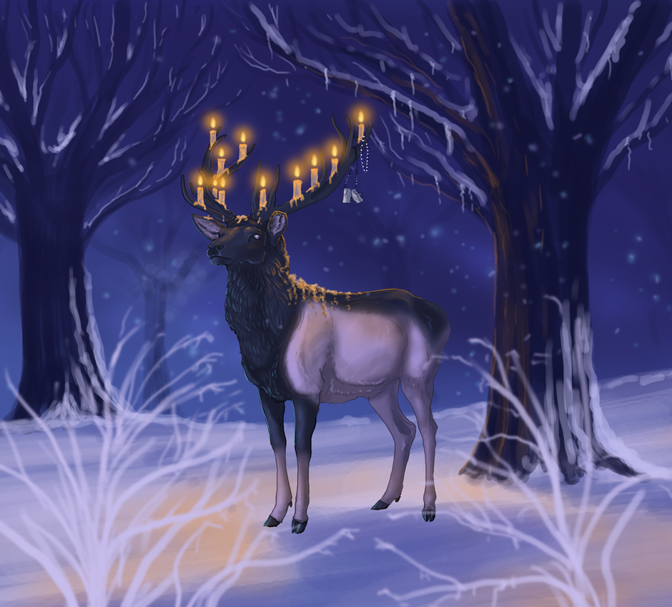 Winter Nights by sighthoundlady