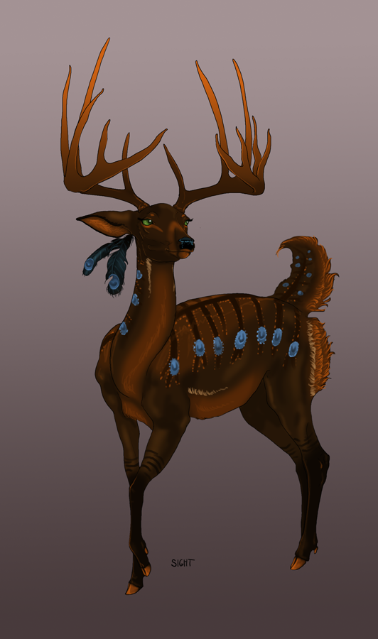 Prita Antlered Adult Concept by sighthoundlady