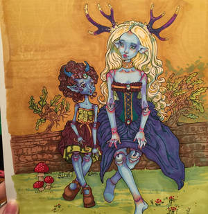 Neela And Elandria in Markers