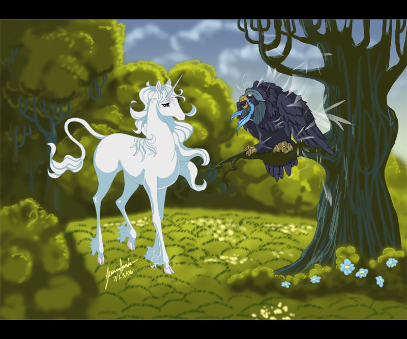 The Last Unicorn Fan Art By Sighthoundlady On DeviantArt
