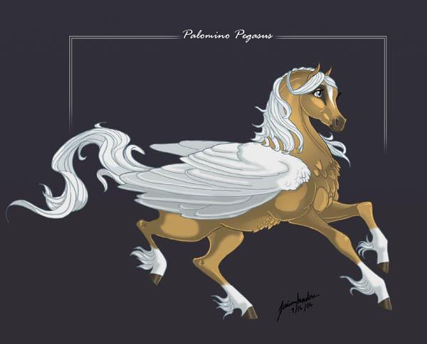 Palomino Pegasus by sighthoundlady