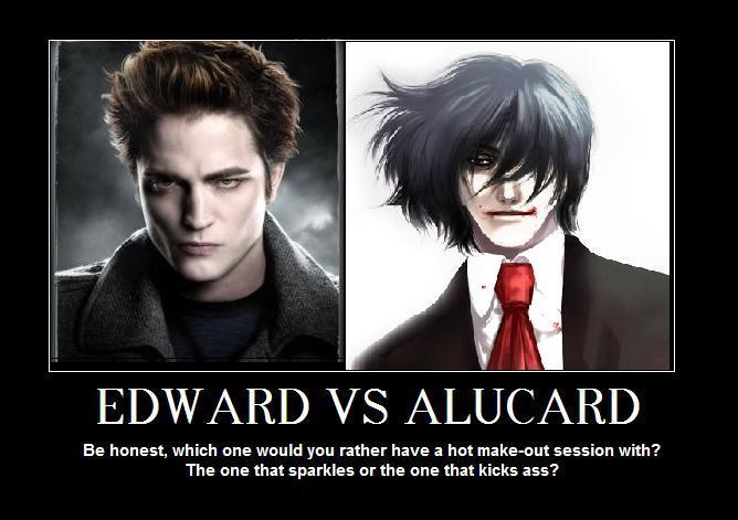 Edward vs. Alucard by bigred767