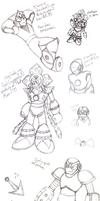Old Mega Man Doodles (Pt. 2)