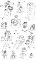Awesomenauts Doodles by Beane-Cat