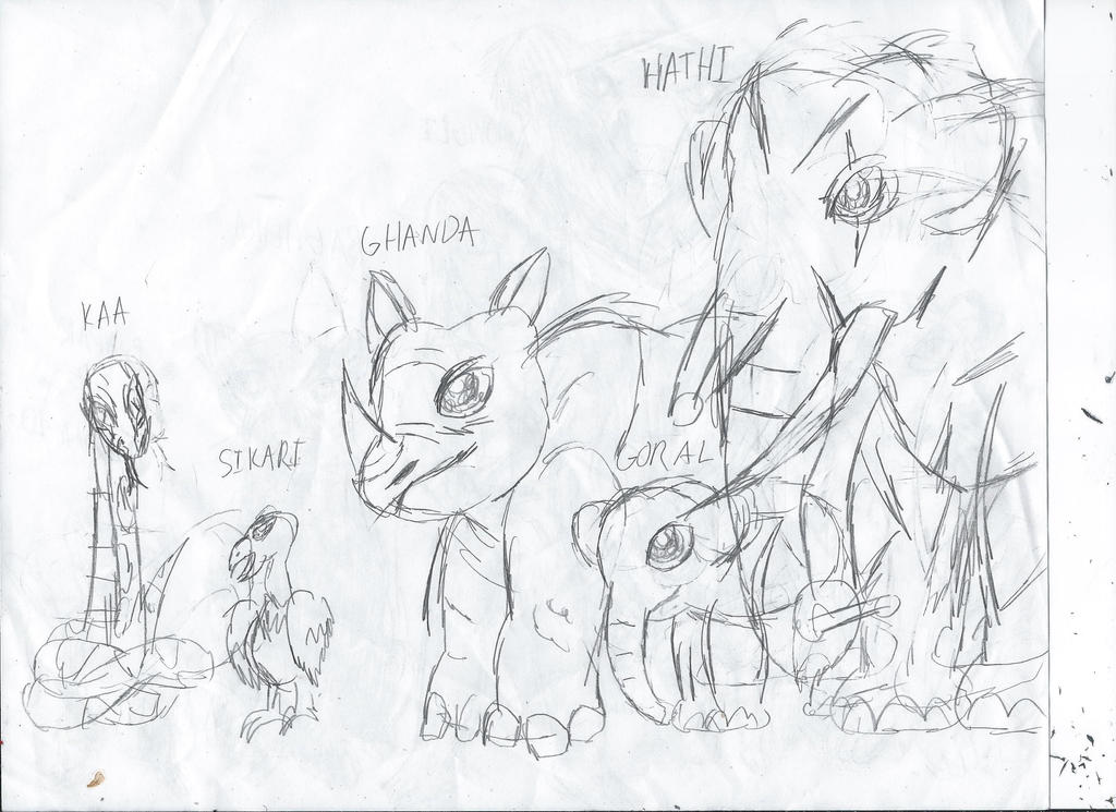 Sketch September Jungle Book Characters 2 By TheZackBurg On DeviantArt