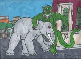 Ymir vs Elephant by TheZackBurg