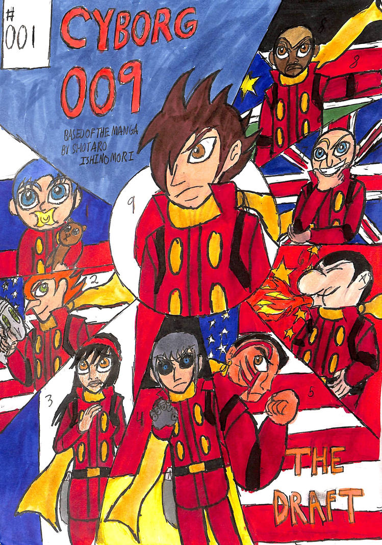 Cyborg 009 #1 The Draft cover by TheZackBurg