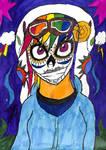 Day of the Dead Rainbow Dash by TheGreatBurg