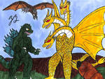 Four Giant Monsters: Earth's Greatest Battle by TheZackBurg