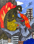 Gamera vs Zigra by TheZackBurg