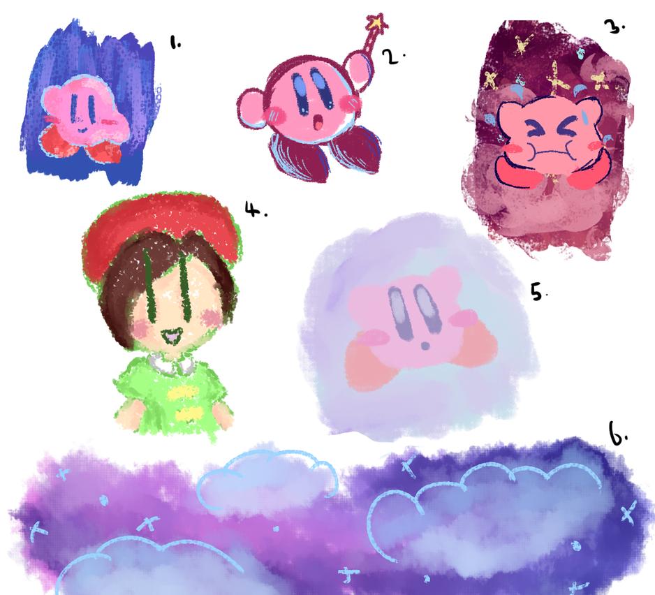Kirby doodles by FaithCreates