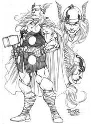 Thor by harveytsketchbook
