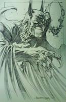 Batman sketch by harveytsketchbook