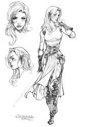 Jarael character design by harveytsketchbook