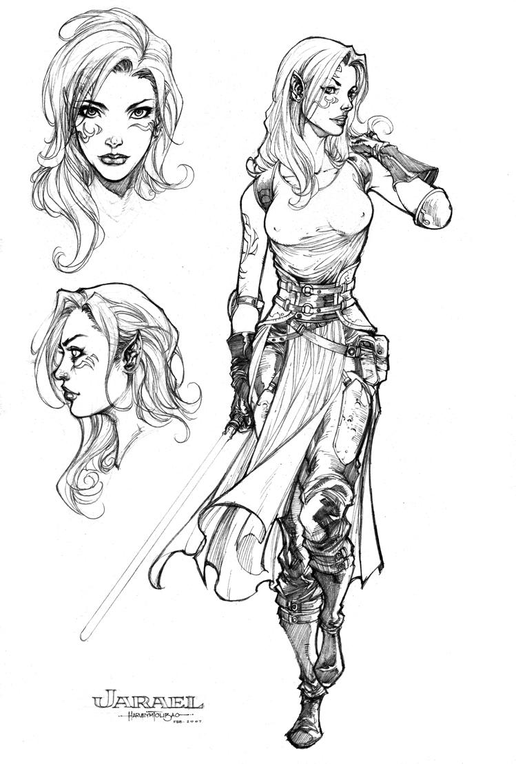 jarael character design by harveytsketchbook on deviantart