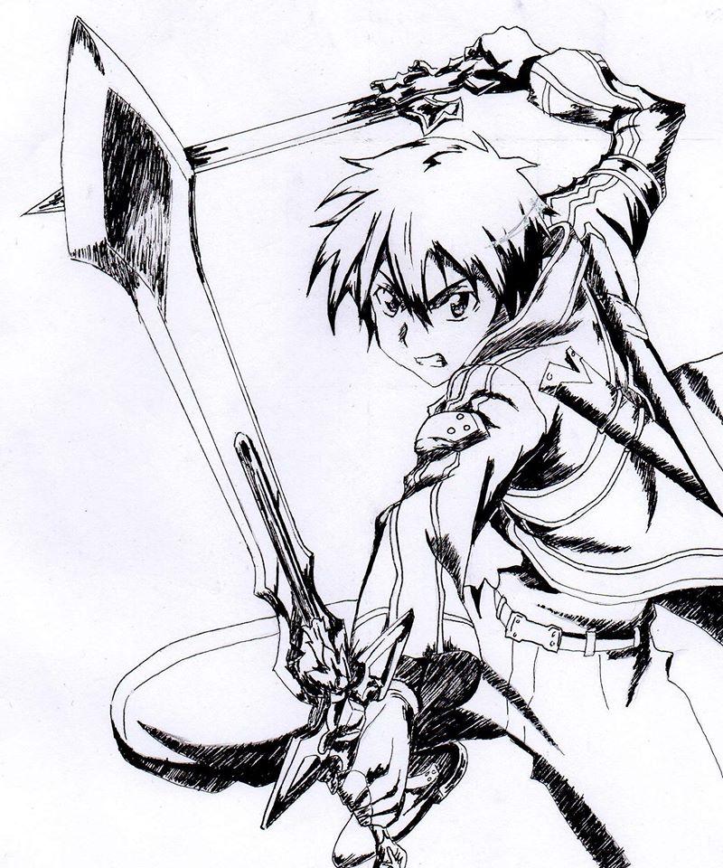 Kirito, SAO by Kuronzer