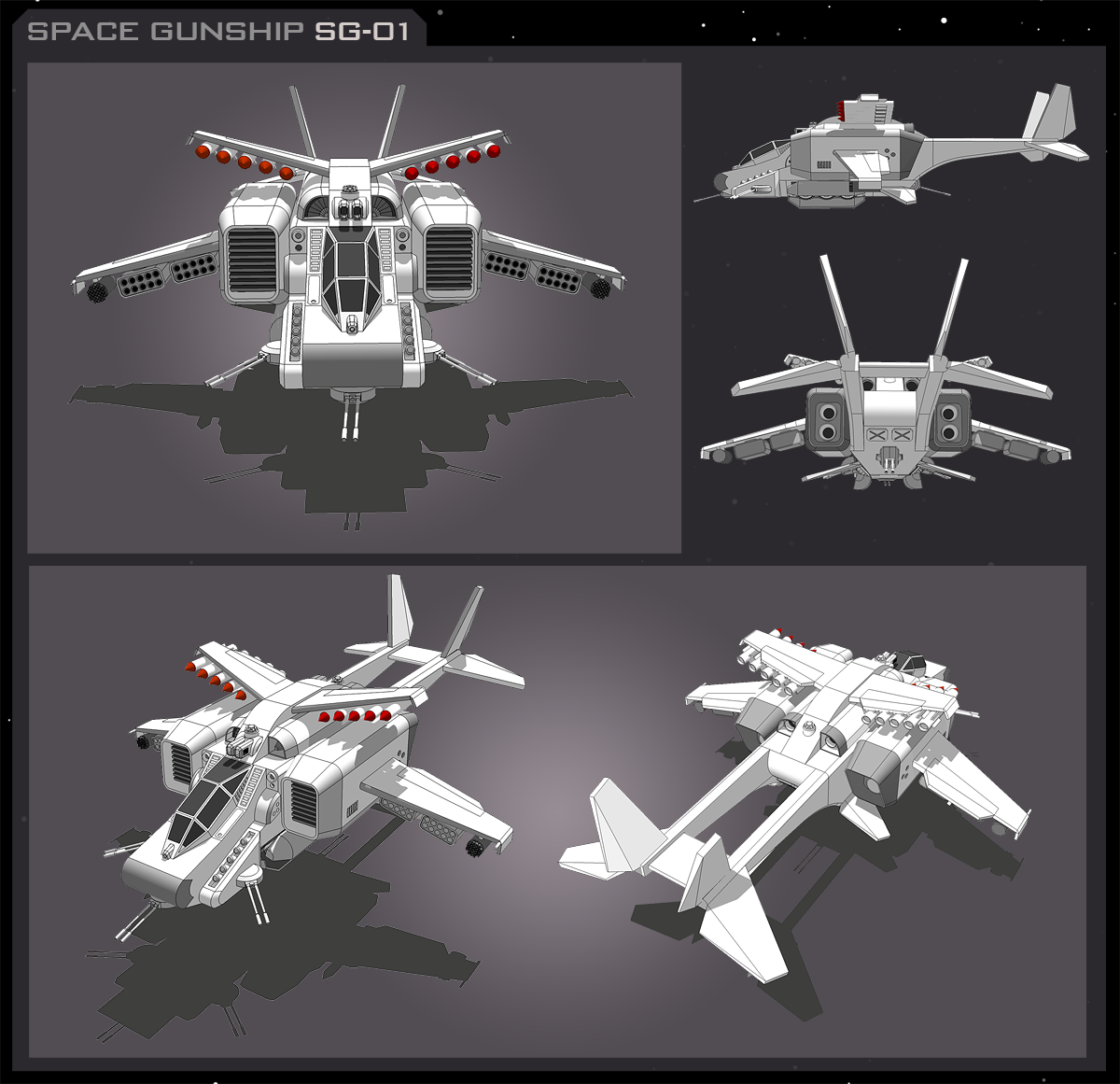 Space Gunship SG-01 by vpRaptor