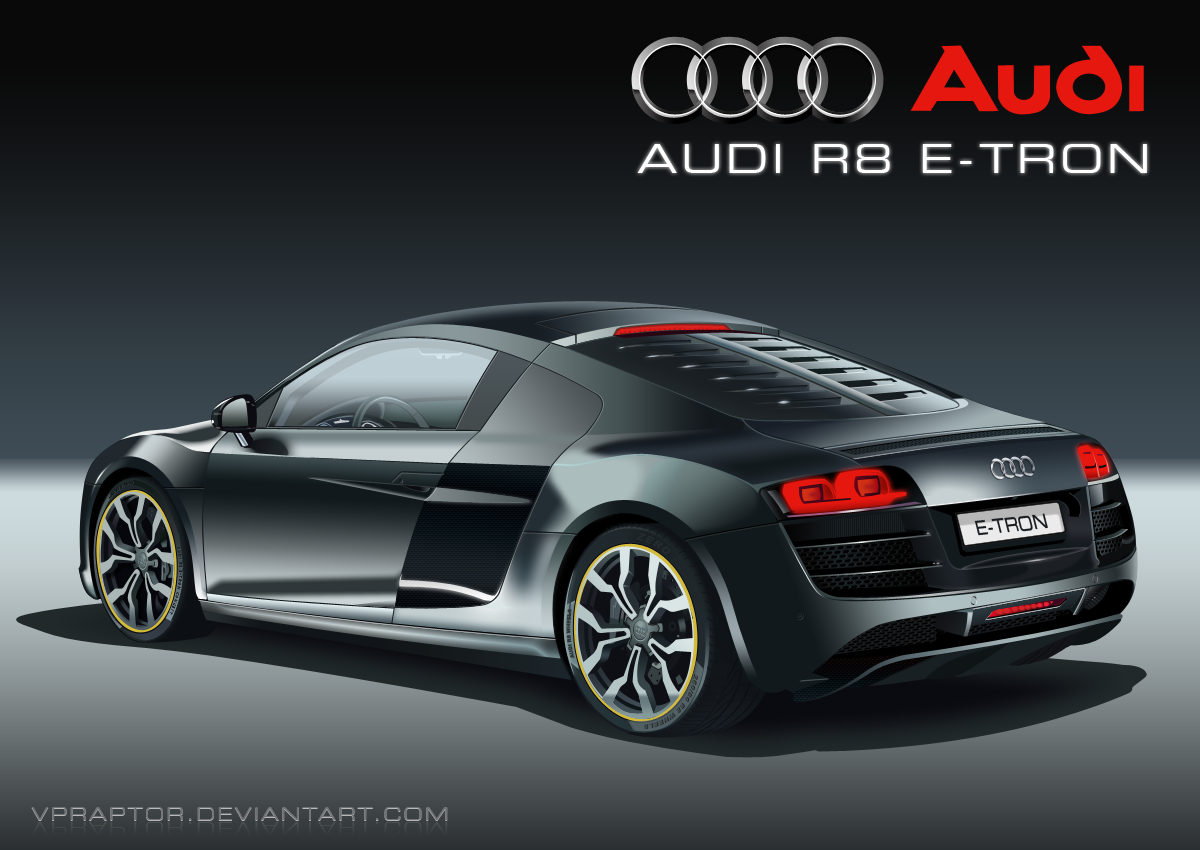 audi r8 e tron by vpraptor on deviantart. Black Bedroom Furniture Sets. Home Design Ideas
