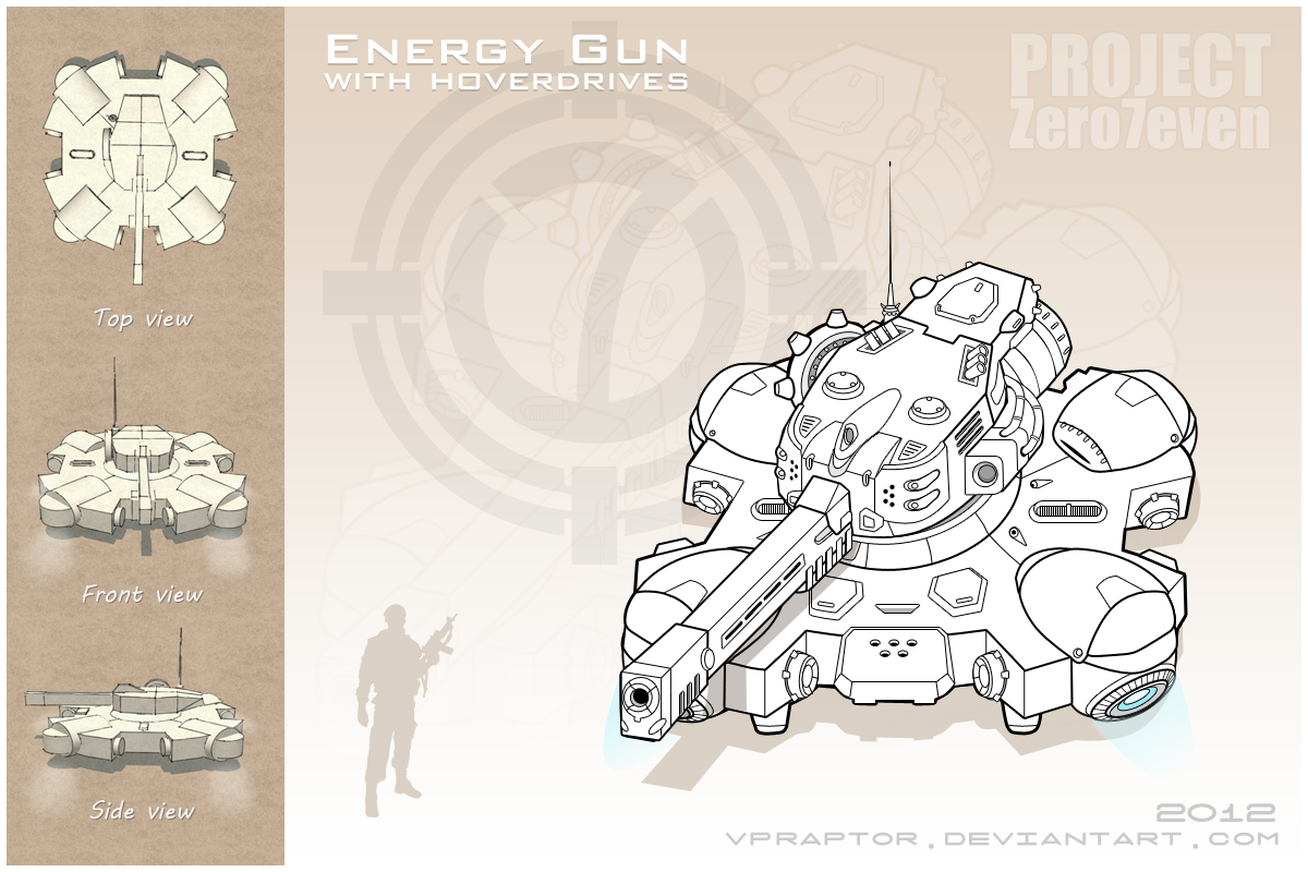 Energy Gun with Hoverdives by vpRaptor